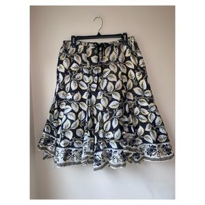 Max Studio| cotton floral tiered skirt sz Medium